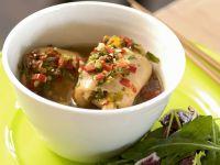 Chicken Roll-Ups with Dandelion Salad recipe