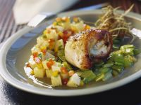 Chicken Roulade with Honey, Leeks and Potatoes recipe
