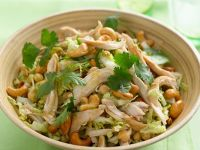 Chicken Salad with Chickpeas and Cashews recipe