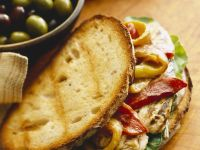 Chicken Sandwich with Peppers recipe