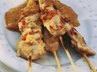 Chicken Skewers with Peanut Dip recipe