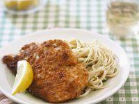 Chicken Schnitzel and Linguine recipe