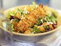 Chicken Skewers over Salad recipe