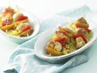 Chicken Skewers with Couscous recipe