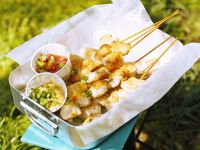 Chicken Skewers with Dip recipe