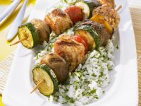 Chicken Skewers with Herbed Rice recipe
