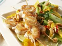 Chicken Skewers with Mango Salad recipe