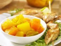 Chicken Skewers with Pineapple and Mango recipe
