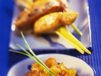 Chicken Skewers with Sweet and Sour Pumpkin Chutney