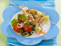 Chicken Skewers with Tomato Salad recipe