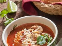 Chicken Soup with Crushed Tortilla Chips recipe