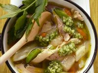 Chicken Soup with Rosemary and Root Vegetables recipe