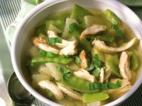 Chicken Soup with Snow Peas recipe