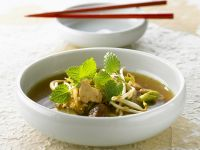 Chicken Soup with Sprouts and Lemon Balm recipe