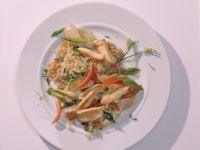 Chicken Stir-fry with Quinoa and Asparagus recipe