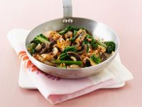 Chicken, Chard, and Mushroom Stir-fry recipe
