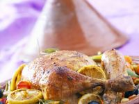 Chicken Tagine with Vegetables, Olives and Lemons recipe