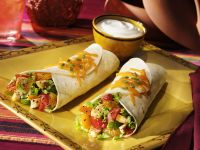 Chicken Tortilla Wrap with Oranges and Peppers recipe