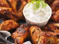 Chicken Wings with Cheese Dip recipe