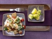 Chicken with Asparagus and Arugula recipe