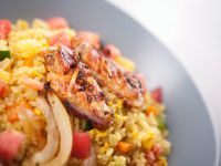 Chicken with Curried Fried Rice recipe
