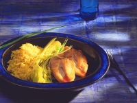 Chicken with Saffron Rice and Braised Celery recipe