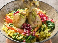Chicken Pieces with Pomegranate and Rice recipe