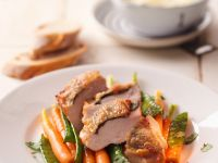 Chicken with Sage, Snow Peas and Carrots recipe
