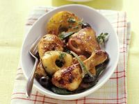 Chicken with Spiced Apples, Onions and Olives recipe