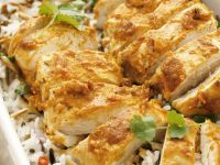 Chicken with Yogurt Curry Sauce and Rice recipe