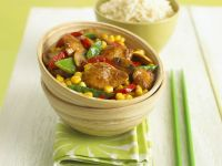 Chicken Wok-fry with Corn recipe