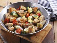 Chicken, Zucchini, and Cherry Tomato Stir-fry recipe