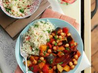 Spiced Vegetables Ragout and Couscous