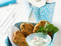 Chickpea and Sausage Patties with Yogurt Dip recipe