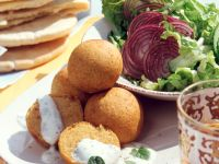 Chickpea Balls with Mint Yogurt recipe