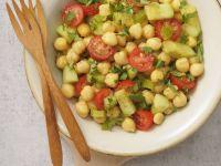 Chickpea, Cucumber and Tomato Salad recipe