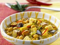 Chickpea Curry with Eggplant recipe