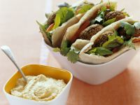 Chickpea Falafel with Hummus recipe