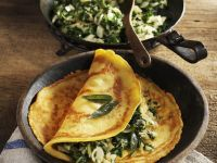 Gram Flour Pancakes with Chard and Fennel recipe