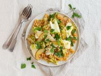 Chickpea Pasta with Brie and Pears recipe