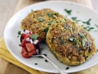 Chickpea Patties with Salsa recipe