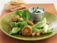 Chickpea Patties with Yogurt Dip recipe