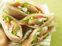 Chickpea Patty Wraps recipe