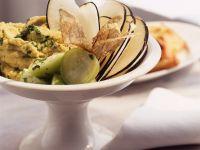 Chickpea Spread with Sliced Radish recipe