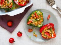 Peppers Stuffed with Rice and Chickpeas recipe