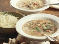 Chickpea Vegetable Soup with Mushrooms recipe