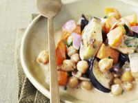 Chickpeas and Eggplant in Coconut Curry Sauce recipe