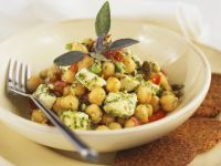 Chickpeas and Feta Cheese Salad recipe