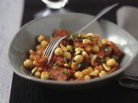 Chickpeas and Tomatoes with Pine Nuts recipe