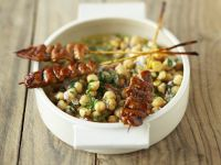 Chickpeas with Chicken Satay recipe